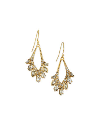 Miss Havisham Jagged Cluster Drop Earrings