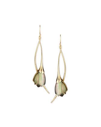 Miss Havisham Mother-of-Pearl Elongated Drop Earrings