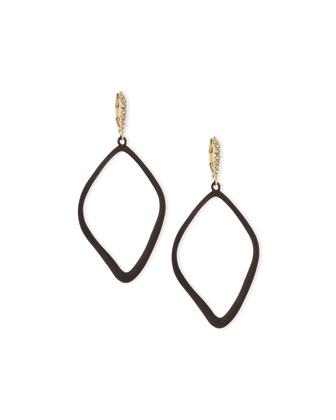 Miss Havisham Single Orbit Drop Earrings