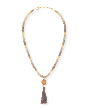 Shanti Moonstone and Agate Necklace