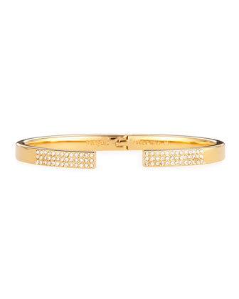 Diviso Gold-Plated Crystal Bracelet