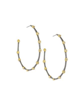 Elements Medium Crystal Studded Hoop Earrings