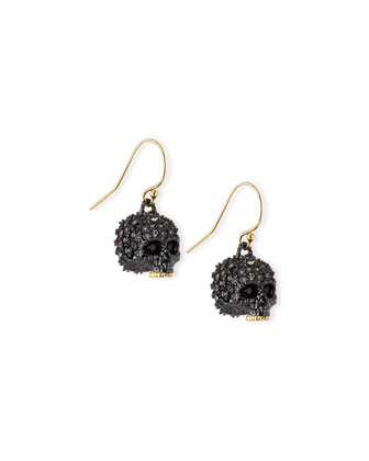 Elements Petite Pave Skull Earrings