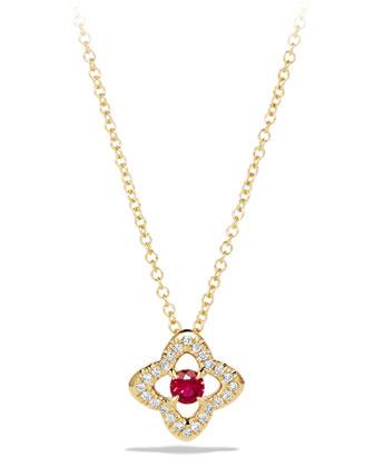 5mm Venetian Quatrefoil Ruby Necklace