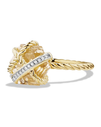 10mm Petite Cable Wrap Champagne Citrine Ring