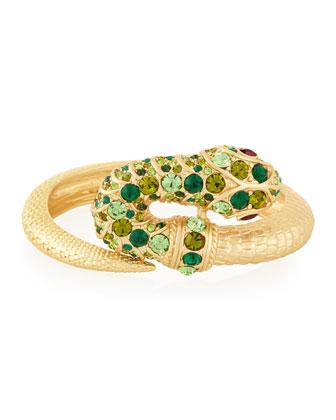 Embellished Snake Bracelet, Green Multi