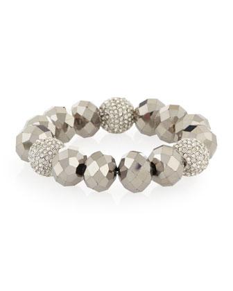 Beaded Stretch Bracelet W/Crystals