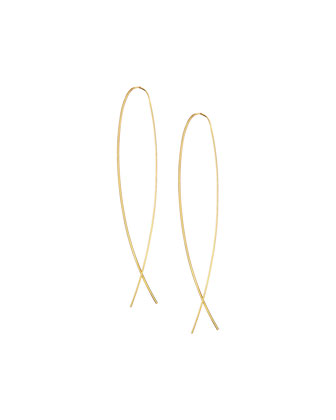 14k Elite Narrow Upside Down Hoop Earrings