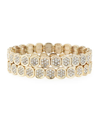 Pav� Stretch Bracelet Set