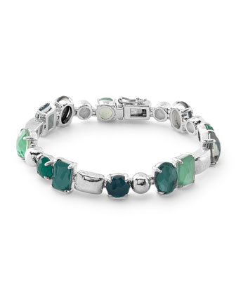 Rock Candy Wonderland 5-Stone Mixed Shape Tennis Bracelet in Neptune