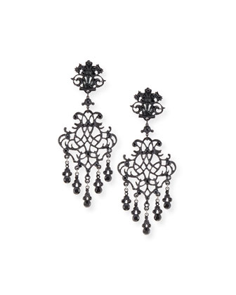Lace Scroll Dangle Earrings