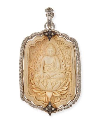 New World Champagne Diamond Buddha Pendant