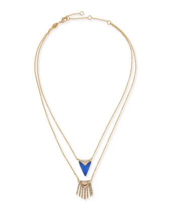 Lucite Layered Fringe Necklace