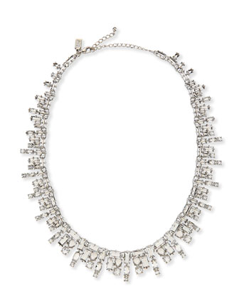 catching light crystal necklace