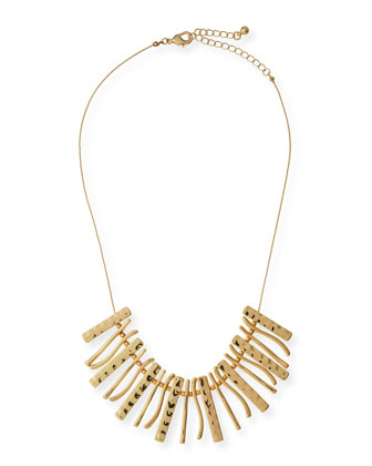 Marianna Golden Bib Necklace