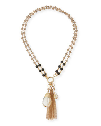 Lucrezia Beaded Tassel Necklace, 36