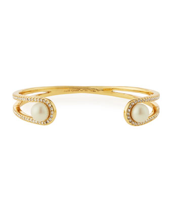 purely pearly open cuff bracelet