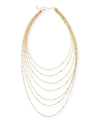 Layered Chain Shimmer Necklace
