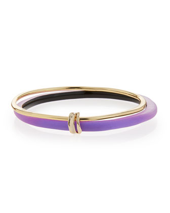 Lucite Liquid Paired Bangle, Magenta