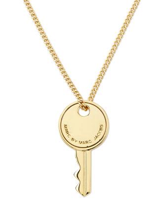 Golden Key Pendant Necklace