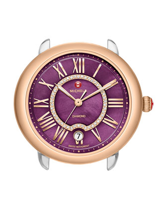 16mm Serein Purple Diamond Watch Head, Two-Tone