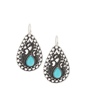 Orvieto Drop Earrings, Silver