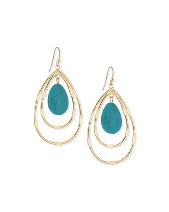 Sorrento Dangle Earrings, Gold