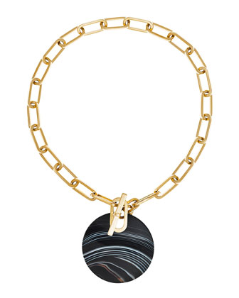 Agate City Disc Statement Necklace