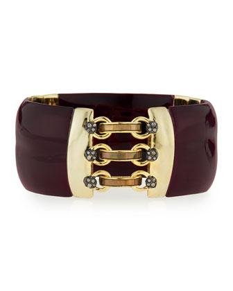 Lucite Corset Hinge Bracelet