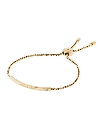 Etched Logo Slider Bracelet
