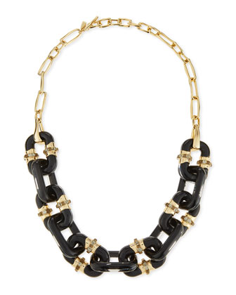Lucite Double-Sided Link Station Necklace