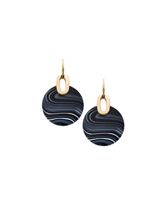 City Disc Agate Earrings