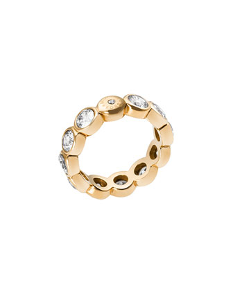 Round Crystal Band Ring