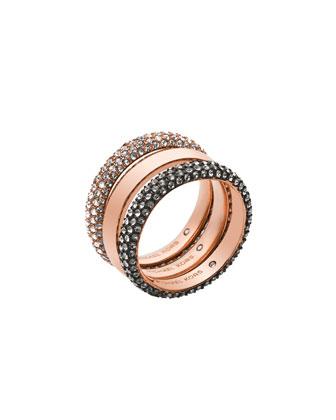 Pave Band Ring Set