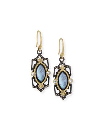 Old World Marquise Triplet Earrings