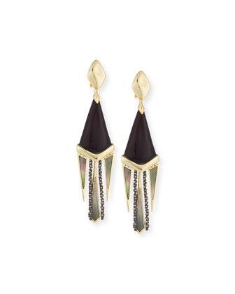 Lucite Chandelier Fringe Earrings