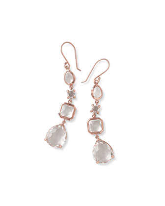 Rose Rock Candy 4-Stone Linear Drop Earrings