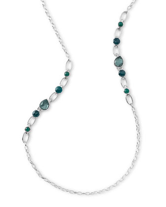 Rock Candy Multi-Stone Long Necklace in Neptune, 38
