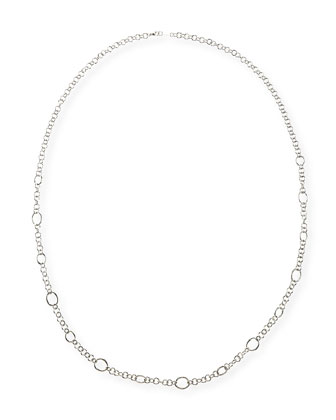 Silver Glamazon Circle Link Necklace, 40