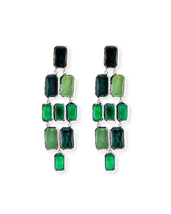 925 Wonderland Brick Cascade Neptune Earrings