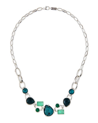 925 Rock Candy Multi-Stone Necklace, Neptune