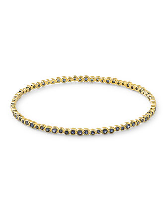 18k Glamazon Stardust Bangle with Blue Sapphires