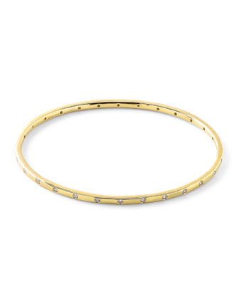 18k Glamazon Stardust Thin Bangle with 28 Diamonds