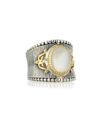 Erato Small Oval Labradorite Ring