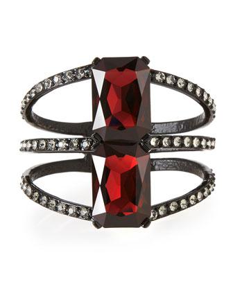 Large Octagon Crystal Bracelet