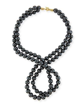 Swarovski® Crystal-Pearl Two-Strand Necklace