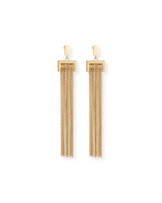 Delfine Rigid Chain Drop Earrings