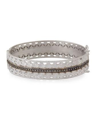Double Cravelli Huggie Bracelet with Diamonds