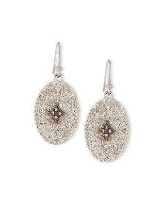 New World Oval Cravelli Diamond Earrings