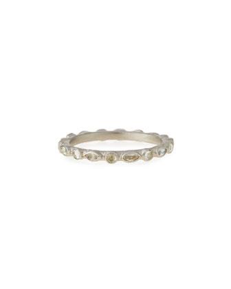 New World White Sapphire Stack Ring